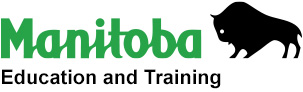 Manitoba Education and Training logo